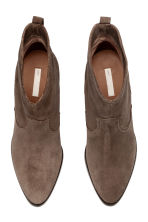 Suede ankle boots - Brown - Ladies | H&M CN 2