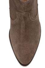 Suede ankle boots - Brown - Ladies | H&M CN 3
