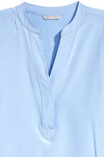 Silk tunic - Light blue - Ladies | H&M CN 3