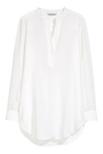 Silk tunic - White - Ladies | H&M CN 2