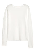 Fitted top - White - Ladies | H&M CA 2