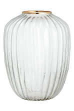 Grand vase en verre - Verre transparent/doré - Home All | H&M FR 2