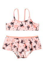 Patterned bikini - Light pink/Palms - Kids | H&M 1