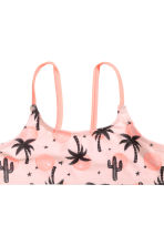 Patterned bikini - Light pink/Palms - Kids | H&M 2