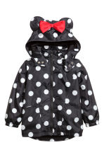 Jersey-lined windproof jacket - Black/Minnie Mouse - Kids | H&M 2