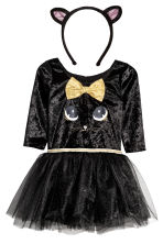 Dance dress with Alice band - Black/Cat  - Kids | H&M 2