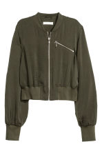 Short bomber jacket - Dark khaki green - Ladies | H&M 2