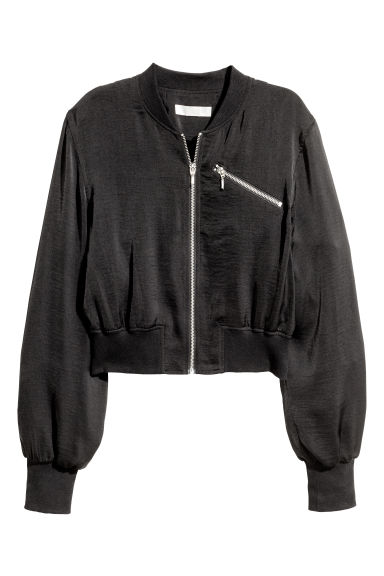 Short bomber jacket - Black - Ladies | H&M CN 1