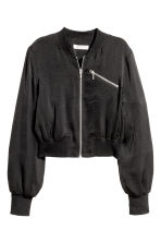 Short bomber jacket - Black - Ladies | H&M 1
