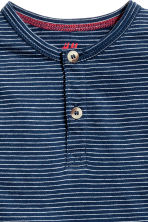 Henley shirt - Dark blue/Striped -  | H&M 5