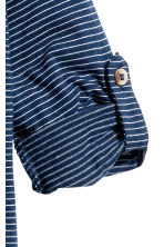 Henley shirt - Dark blue/Striped -  | H&M CN 4