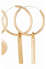 3 pairs earrings - Gold - Ladies | H&M CN 2