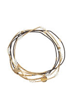 5-pack elastic bracelets - Gold - Ladies | H&M 1