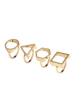 4-pack rings - Gold - Ladies | H&M 1