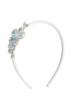 Hairband with bead decoration - Silver - Kids | H&M 1