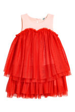 Tulle dress - Red/Pink - Kids | H&M CA 2
