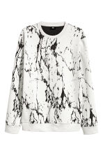 Jacquard-knit jumper - White/Black patterned - Men | H&M 2