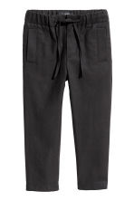 Lyocell-blend pull-on trousers - Black - Kids | H&M 2