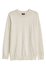 Cashmere-blend jumper - Light grey marl - Men | H&M CN 2