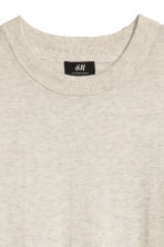 Cashmere-blend jumper - Light grey marl - Men | H&M 3