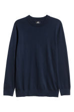 Cashmere-blend jumper - Dark blue - Men | H&M CN 2