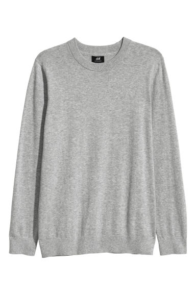 Cashmere-blend jumper - Grey marl - Men | H&M CN