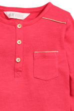 Long-sleeved Henley shirt - Raspberry pink - Kids | H&M 4