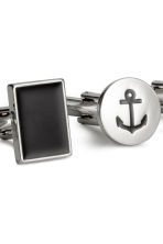 2 pairs cufflinks - Silver/Anchor - Men | H&M 2