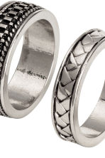 3-pack rings - Silver - Men | H&M 2