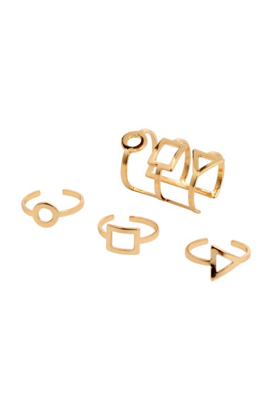 4-pack earcuffs - Gold - Ladies | H&M 1