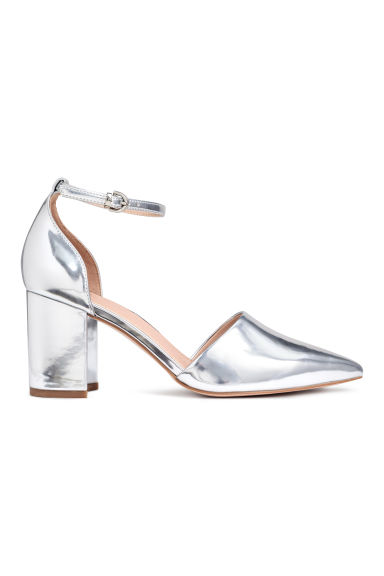 Open-sided court shoes - Silver - Ladies | H&M
