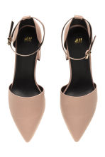 Open-sided court shoes - Light beige -  | H&M CN 3