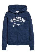 Hooded top - Dark blue marl - Ladies | H&M CN 2