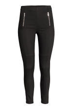 Twill trousers with zips - Black - Ladies | H&M CN 2