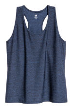 H&M+ Sports vest top - Dark blue marl - Ladies | H&M 2