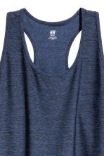 H&M+ Sports vest top - Dark blue marl - Ladies | H&M 3