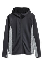 H&M+ Outdoor fleece jacket - Black/Grey marl - Ladies | H&M 1
