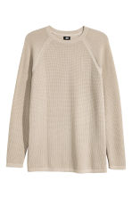 Textured-knit cotton jumper - Beige - Men | H&M CN 2