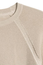 Textured-knit cotton jumper - Beige - Men | H&M CN 3