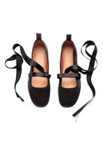 Ballet pumps with lacing - Black - Ladies | H&M CN 2
