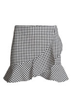 Wrapover skirt - Black/White/Checked - Ladies | H&M 2