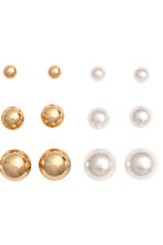 9 pairs earrings - Gold - Ladies | H&M 2