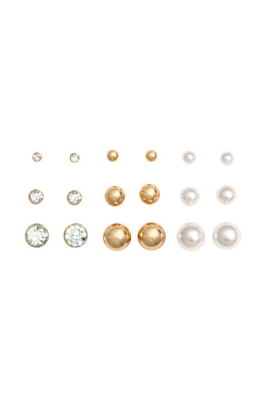 9 pairs earrings - Gold - Ladies | H&M CN 1