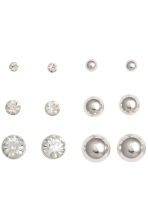 9 pairs earrings - Silver - Ladies | H&M GB 2