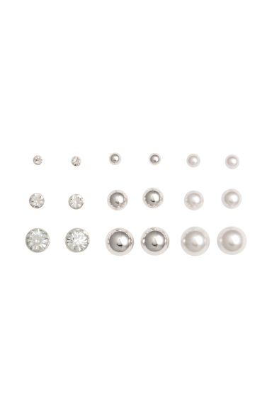 9 pairs earrings - Silver - Ladies | H&M GB 1