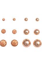 9 pairs earrings - Rose gold - Ladies | H&M GB 2