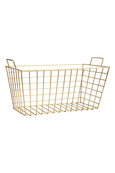 Large metal wire basket - Gold - Home All | H&M IE