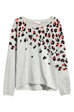 Fine-knit jumper - Light grey marl - Kids | H&M 2