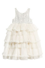 Tulle dress with sequins - Natural white - Kids | H&M 2