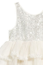 Tulle dress with sequins - Natural white - Kids | H&M CN 3